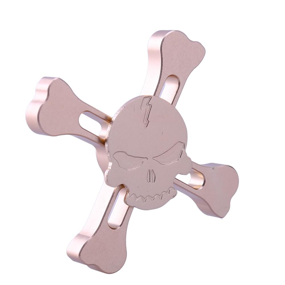 New Original Skull Alloy Fidget Hand Spinner Tri spinner For ADHD Children Adult To Reduce Pressure