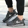 Nueva Llegada de Los Hombres Zapatos Casuales de Color Mezclado de Lona de Malla Transpirable Zapatos Que Caminan Del Deporte Para Hombre Entrenadores Cesta Plana Zapatillas Ocio