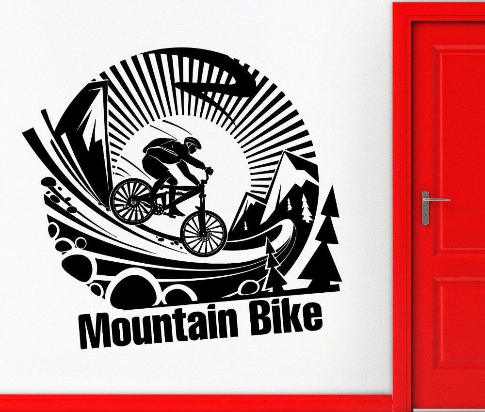 Sticker design for mountain bike - Bike Vinyl Wall Decal Mountain Bike Sport Bicycle Cycle Wall Sticker Bike Wall Sticker Boys Room