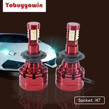 2*12000LM H11 LED Headlight Bulbs Super Bright 160W H8 H9 H4 H7 Fog Lights Conversion Kits 360 Degree(4 Sides) for Car Lights