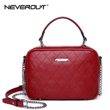 NeverOut Fashion Crossbody Bags for Women Real Leather Handbags Lady Shoulder Bag Sac Solid Classic Thread Brand Name Handbag