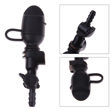Black 9mm Straight Hydration Pack Suction Nozzle