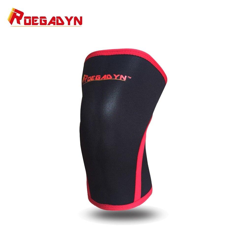 ROEGADYN Haute Qualité Doux 7mm Néoprène CF Genou Manches de Soutien Interarmées Compression Thermique Protecteur Wrap Arthrite, Unisexe