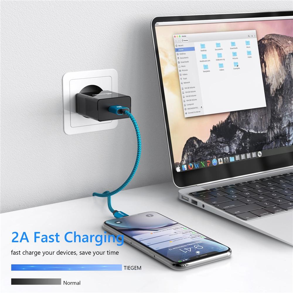 Tiegem USB Kablosu iphone 7 8 6 5 6 s S 5 se artı X XS MAX XR Kablo - Cep Telefonu Yedek Parça ve Aksesuarları - Fotoğraf 2