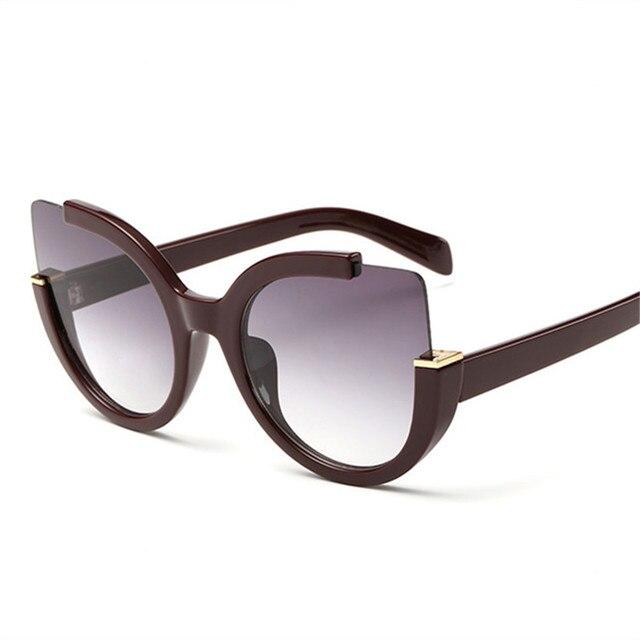 NYWOOH Vintage Sunglasses Women Cat Eye Sun Glasses Womens Brand Designer Mirror Eyewear Ladies Round Frames Eyeglasses UV400 2
