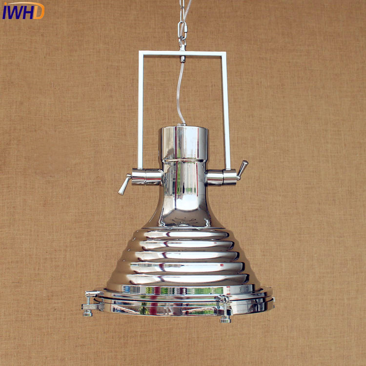 Aliexpress Com Iwhd Siliver Loft Style Industrial Pendant Lighting