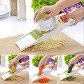 Multifunctional Vegetable Cucumber Slicer with 4 Interchangeable Stainless Steel Blades -Vegetable Cutter Peeler Slicers Grater