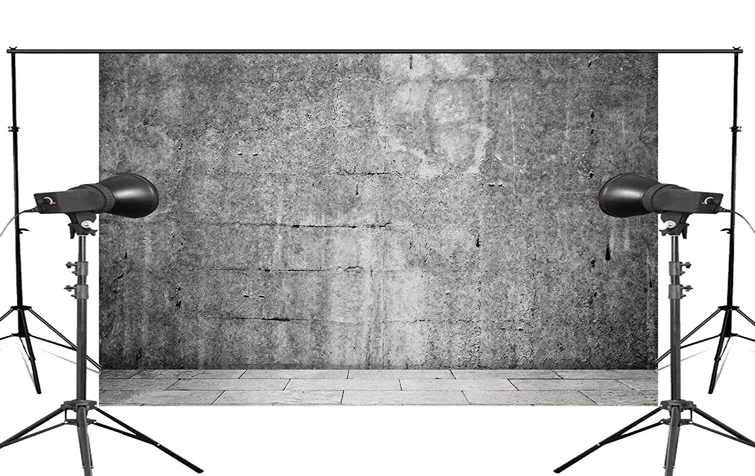 Black White Stone Photography Background Brick Backdrop Studio Props Wall 5x7ft