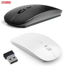 2,4G Ультра тонкая оптическая беспроводная мышь с Usb мини-приемником для ноутбука MacBook, ноутбука, компьютера, ПК, Pubg Игровые мыши