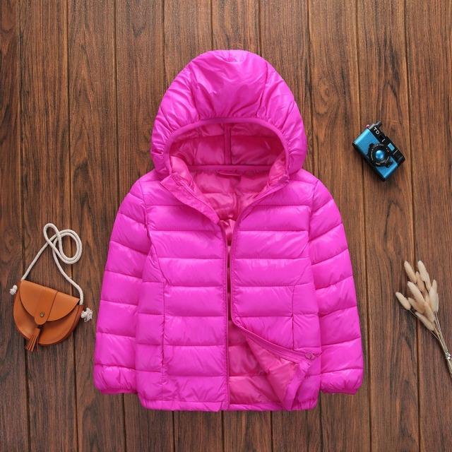 New fashion boys and girls cotton winter fashion sports jacket children's coat jacket light hooded winter warm jacket