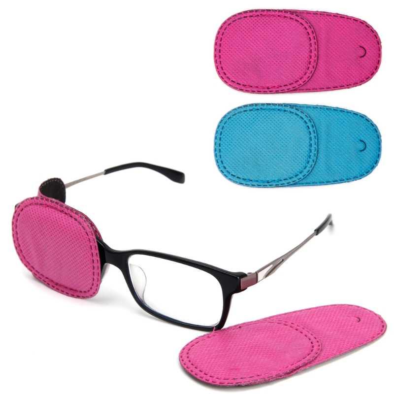 6 pièces L'amblyopie Patchs Oculaires Non-Tissé Tissus Enfants Enfants pour Traiter Strabisme Lunettes Kit Nouvelle Mode