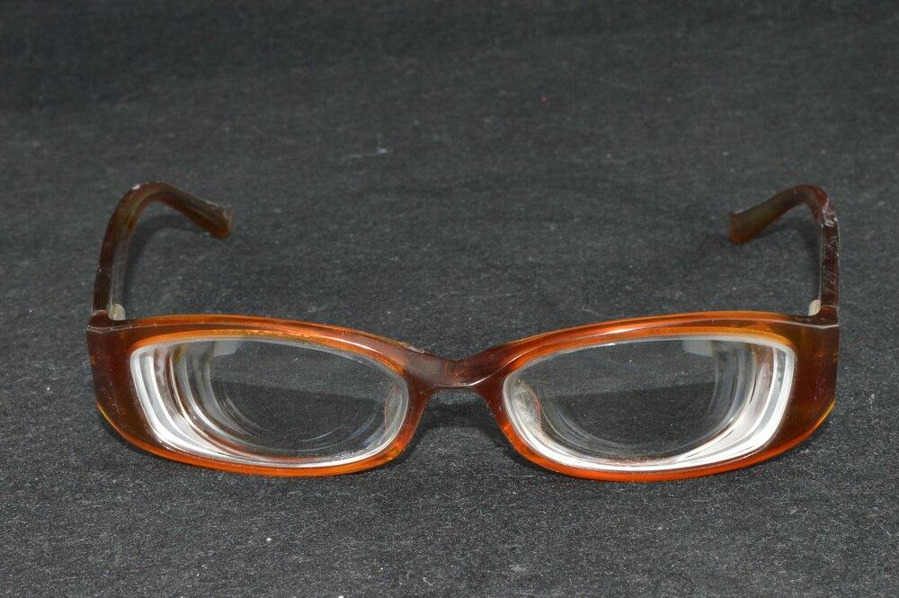 Vrouwen Lady hoge bijziend hoge bijziendheid bruin handgemaakte frame myodisc bril-11D PD64
