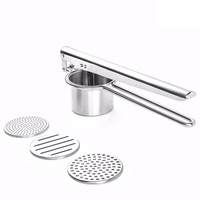 YINUO 2018 Three In One Stainless Steel Tuber Mashed Potato Juicer Hamburger Meat Press Mash Kitchen Gadgets Tools