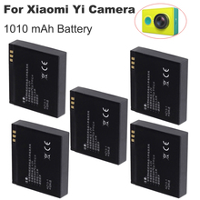 5PCS battery For Xiaomi yi camera bateria 1010mAh 3.7V AZ13-1 Li-ion battery For xiaoyi Action camera xiaomi yi accessories стоимость