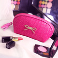 Fashion Knitting Pattern PU Leather Cosmetic Bag Women MakeUp Bag Organizer Storage Bag Clutch bolsa neceser maquillaje