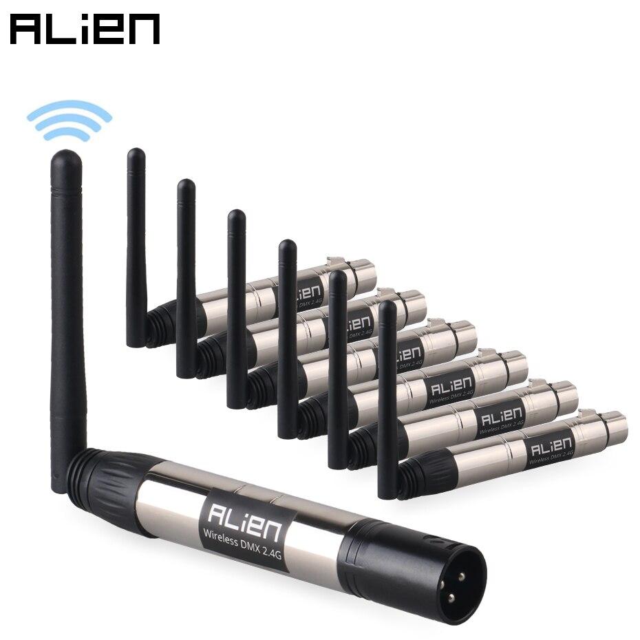 ALIEN DMX512 Wireless 2.4G 126 Channels Transmitter Receiver 400m Control For LED Stage Light Disco DJ Party Stage Par Laser