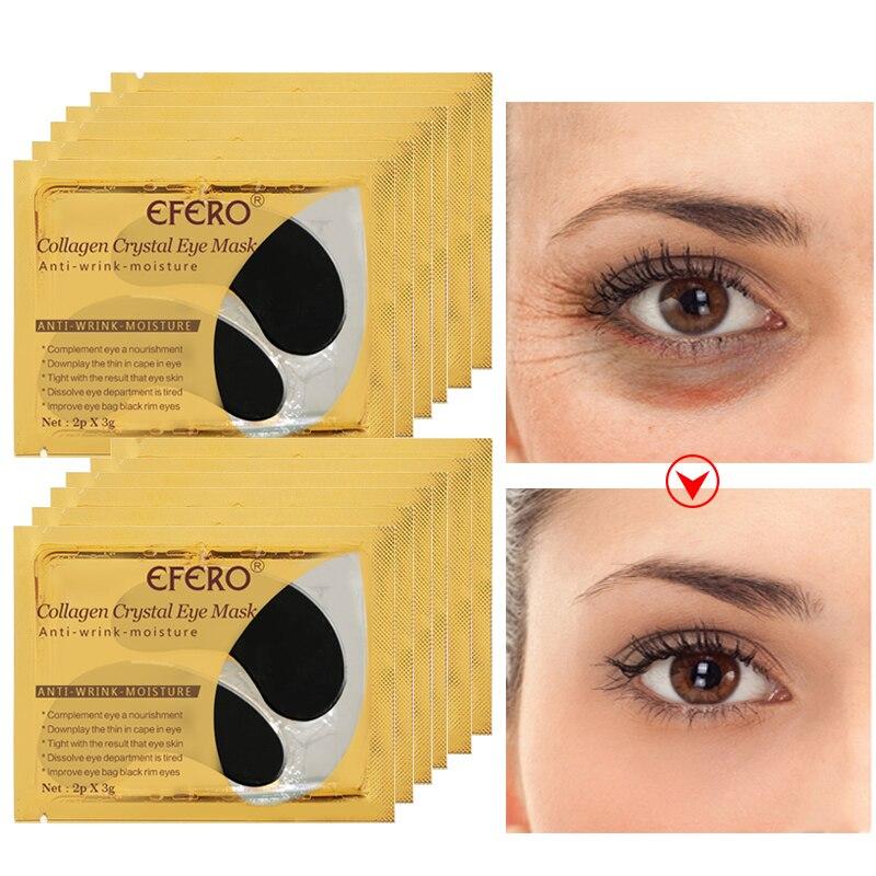 Cristal colágeno Máscara de Olho Gel Eye Patches Sob os Olhos Olheiras Cuidados Remover Creme Anti Rugas Preto Gel de Colageno almofadas olho