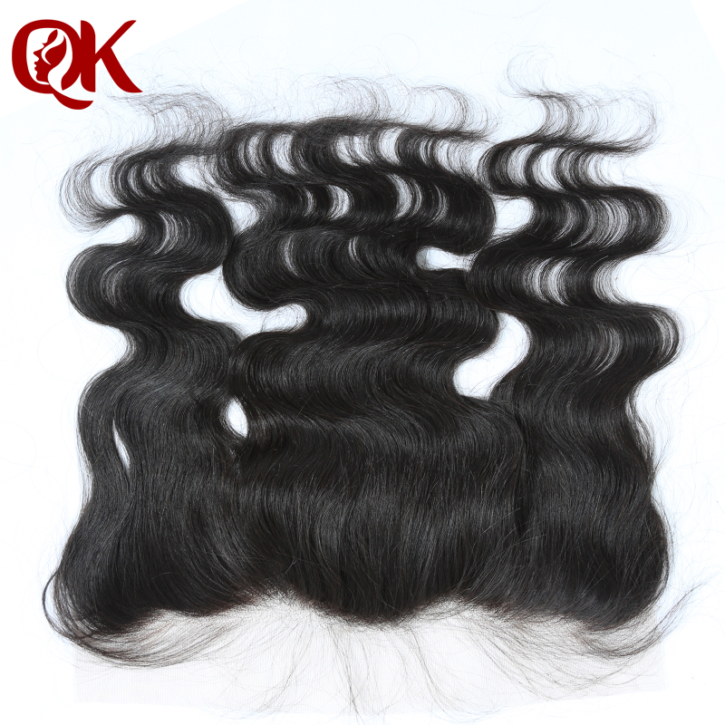 QueenKing Ear To Ear PrePlucked Lace Frontal French Lace 13x4 Peruvian Remy Human Hair Body Wave