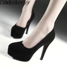 Женские туфли на высоком каблуке с круглым носком