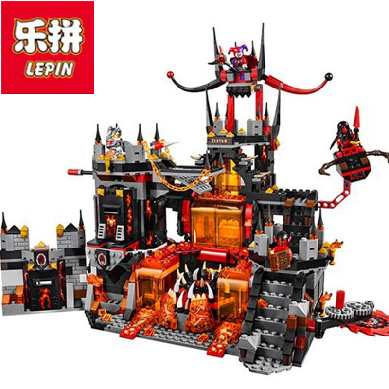 Lepin 1237PC Nexus Knights Chevaliers Axl Jestros Volcano Lair Combinaison Marvel Models Building Blocks Toys Compatible with