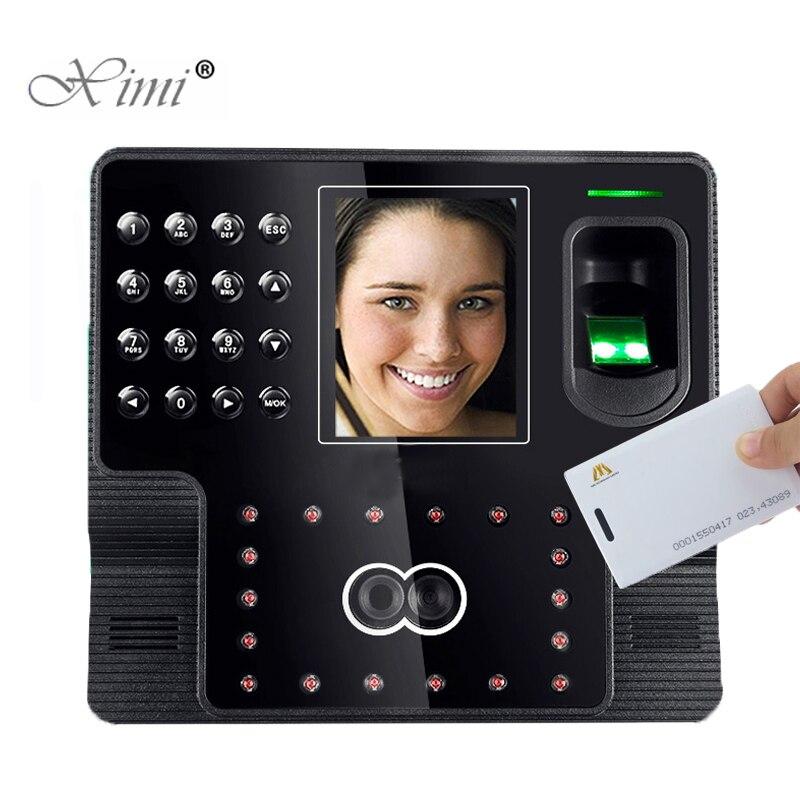 ZK i Viso 102 Viso + Impronte Digitali + 125 khz RFID Carta di Sistema di Presenza di Tempo di Presenza Dei Dipendenti Biometrico Registratore di Tempo orologio in tempoZK i Viso 102 Viso + Impronte Digitali + 125 khz RFID Carta di Sistema di Presenza di Tempo di Presenza Dei Dipendenti Biometrico Registratore di Tempo orologio in tempo