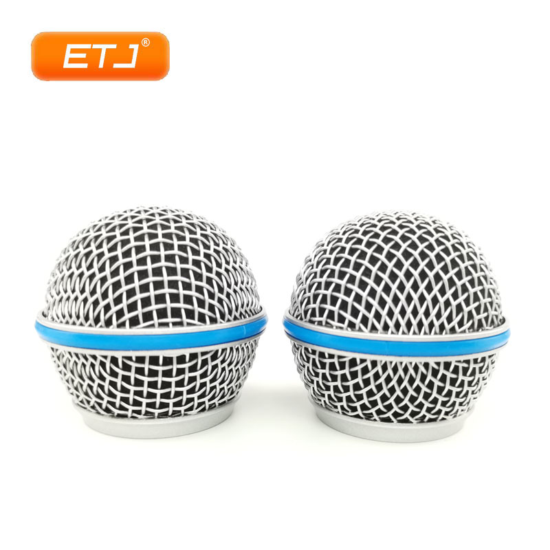2pcs Microphone Replacement Mesh Grille Ball Head Mesh Microphone Accessories Fit For Shure Beta58 SM58s