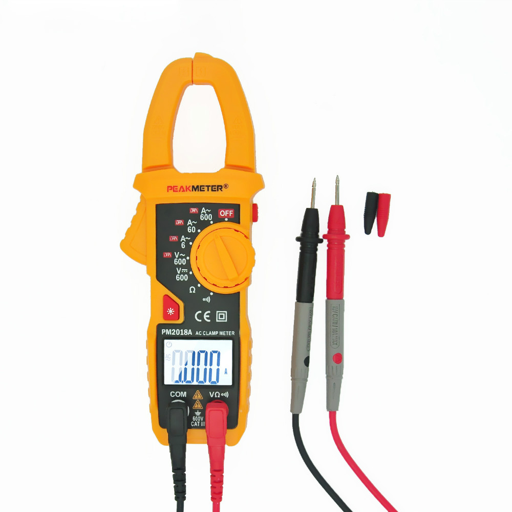 MS2018A True rms Auto range Multimeter Clamp meter Digital Resistance AC Voltage Current LED display резистор 4 7k 0603 1% 5000