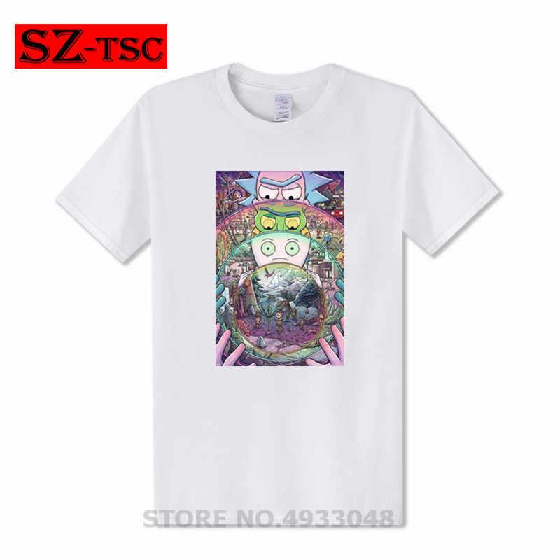 Camiseta para hombre Rick y morty nuevo Anime camisetas divertidas verano Casual Harajuku camiseta ricka y morty Cool camisetas Tops camisetas de hombre