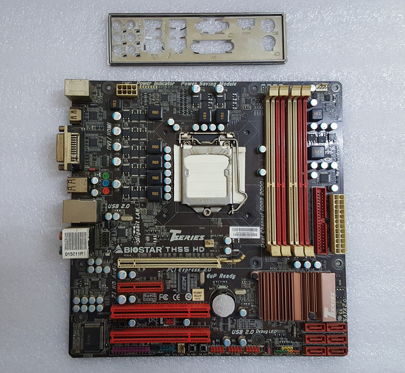 ФОТО Used original motherboard for Biostar TH55 TH55B  HD 5.x motherboard 1156 pin H55 motherboard  Free shipping