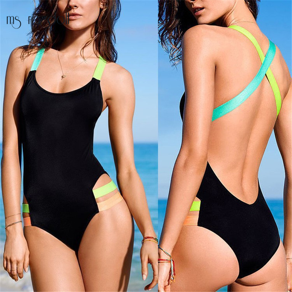 One Piece Swimsuit 2018 Plus Size Swimwear Women Swimsuit Vintage Retro Bathing Suits Monokini Swimsuit Beach Wear Swim Wear 3XL 2017 new one piece swimsuit women vintage bathing suits halter top plus size swimwear sexy monokini summer beach wear swimming