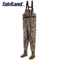 Comfortable Fishing waders with wading pants wading boots overall chest adjustable shoulder strap ultra abrasion resistance
