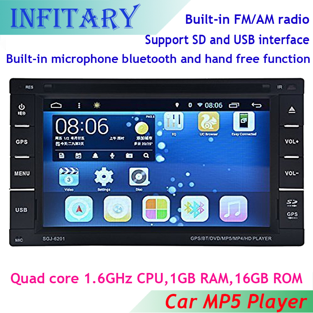 "6.2"" Android 4.4.2 2 Din In Dash Universal Car Stereo Audio Radio DVD/USB/SD Player HD Multimedia Bluetooth TouchScreen GPS WiFi"