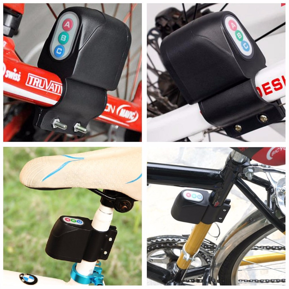 Best Seller Bicycle Bike Motorbike Cycling Alarm Anti-theft Digital Code Lock Loud Sound Free Shipping