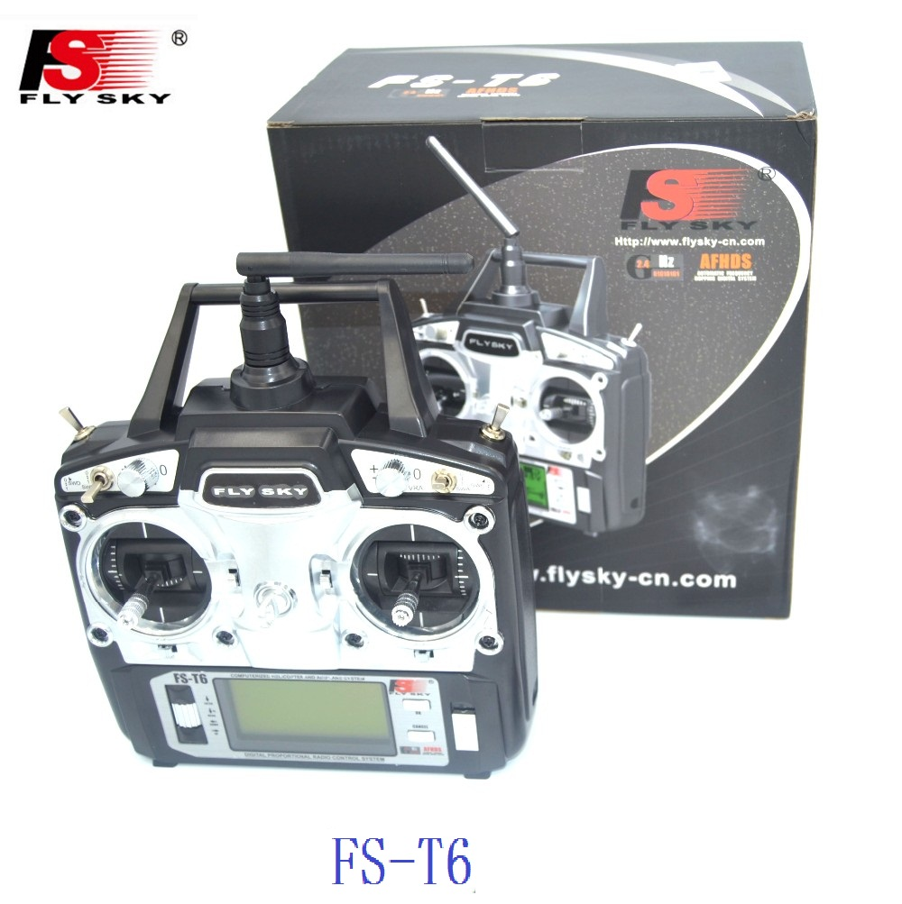 Flysky FS-T6 2.4G 6CH Transmitter and TX RX FS-R6B RC Radio Receiver System qav250 for RC Quadcopter Helicopter With LED Screen niorfnio portable 0 6w fm transmitter mp3 broadcast radio transmitter for car meeting tour guide y4409b