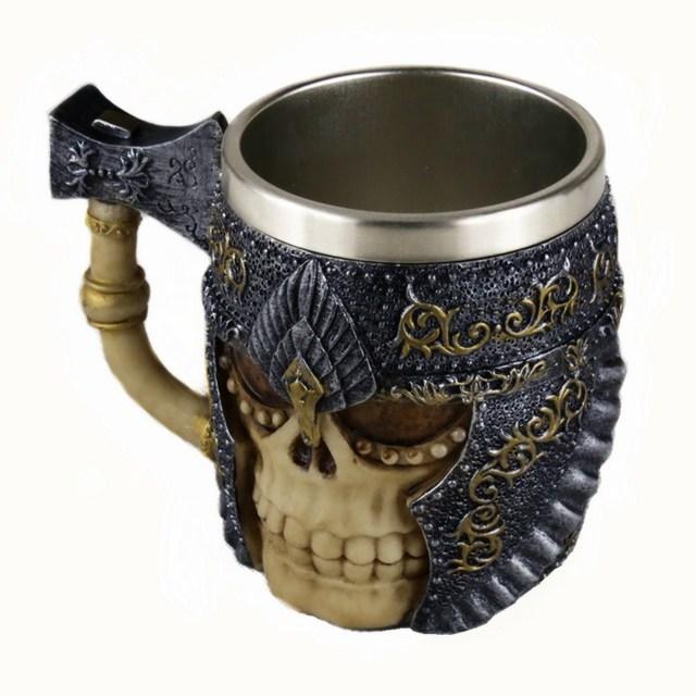 Stainless Steel 3d Coffee Skull Mug Tea Cup Beer Mug Creative Mug