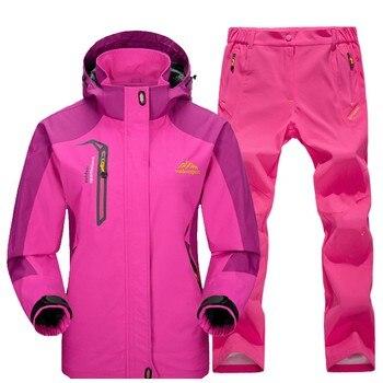 Женские весенне осенние походные куртки, брюки, костюмы, женские уличные треккинговые походные водонепроницаемые ветрозащитные ветровки,