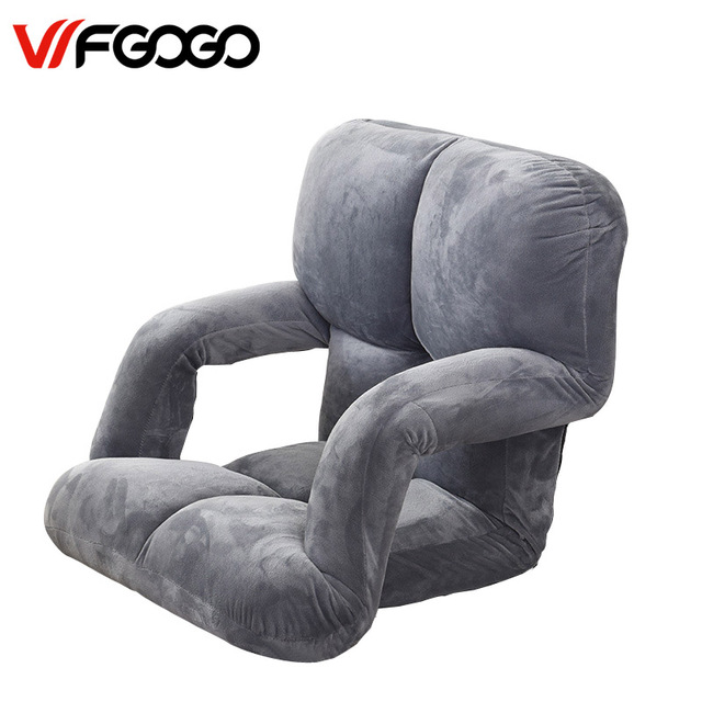 Leewince Modern Living Room Lazy Sofa Couch Floor Gaming Chair Folding Adju Sleeping Bed