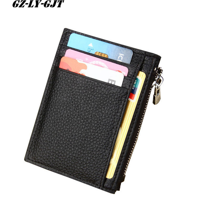 GZ-LY-GJT Fashion New Unisex Wallets Cow Leather RFID Wallet Short Design Day Clutch Casual Lady Cash Purse Women High Capacity