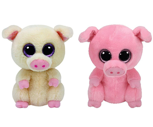 Ty Beanie Boos Piggley Posey Pink Pig Plush Toy Cute Stuffed Animals