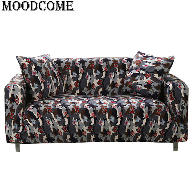 Butterfly Printed Sofa Cover Couch Housse De Canape Sofas Chaise Longue  Loveseat Cover Cloth Sofa Covers