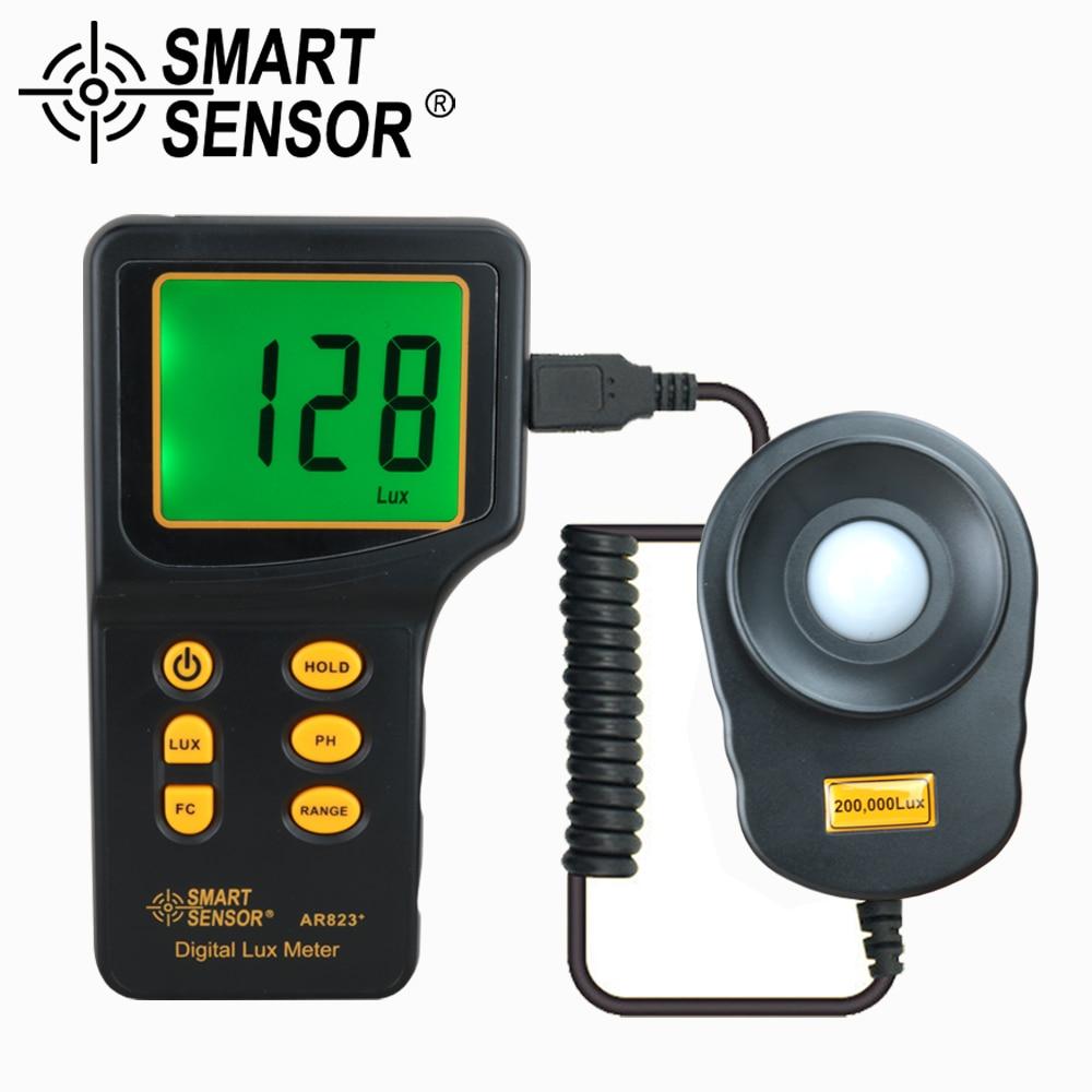 Digital Luxmeter Light Meter Lux / FC Meter spectrometer Photometer for photography Luminometer illuminometer 200,000 Lux tools цена