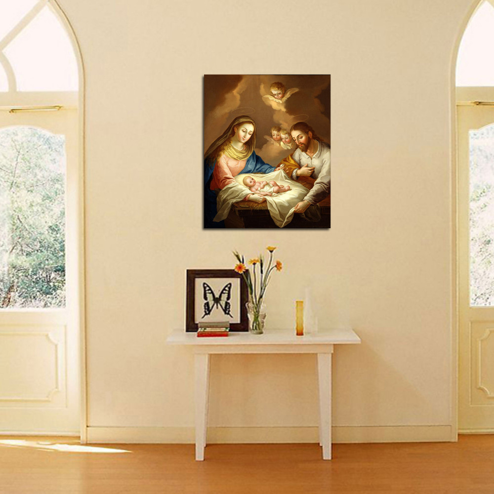 Luxury IartsFamous Print Painting The Holy Family of Jesus Wall Art ...
