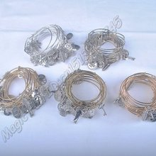 5 шт. позолоченный серебряный браслет Новейшие женские модные шармы из металлических сплавов регулируемые расширяемые браслеты