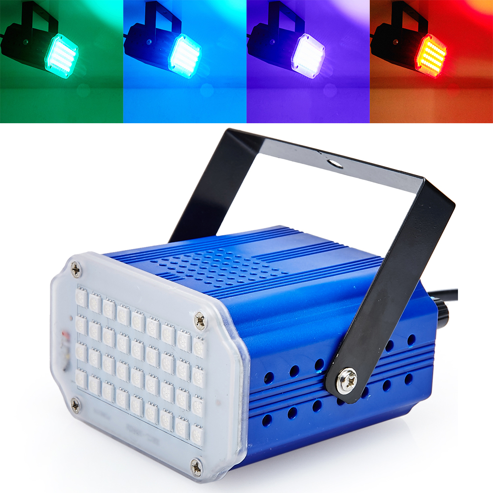 Kawalan Bunyi Mini 36RGB SMD5050 LED Strobe Spotlight Untuk Disco Party DJ Light Home Entertainment Music Show Stage Projektor
