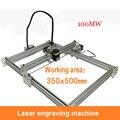1 STÜCK 100 mw mini laser maschine  DIY laser carving-maschine  große gravieren bereich  35*50 cm  englisch software
