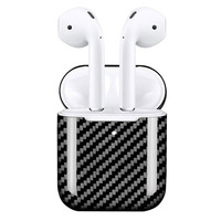 Carbon Fiber Hardshell Case Protection Box Compatible with Apple Airpods 2