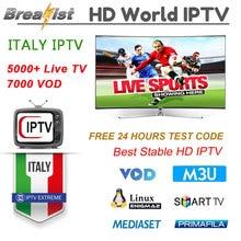 1 год Italia IP tv для Android tv Box 5000 + lives 7000 VOD поддержка Spainish Germen Италия подписка m3u smart tv MEDIASET h96