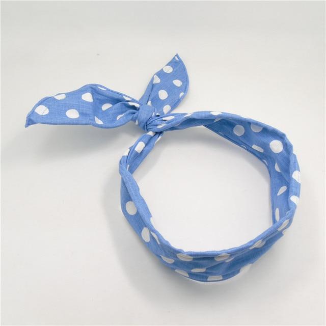 10 unids/lote luz azul punto diadema para la muchacha adolescentes ...