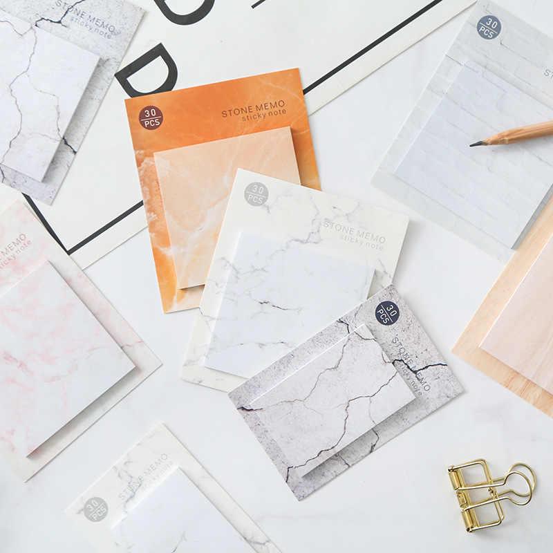 الإبداعية الكورية القرطاسية Kawaii الرخام نمط مذكرة الوسادة ورقة لاصقة لطيف Stonecolor الكتابة منصات مكتب اللوازم المدرسية