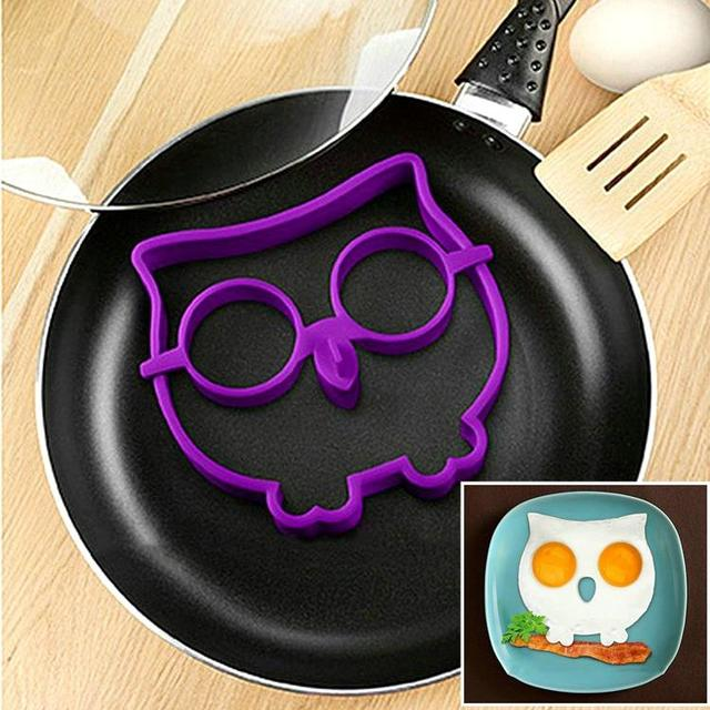 Silicone Egg Mold Tool Breakfast Funny Cooking Tools Fried Egg Mold Pancake Egg Ring Shaper Kitchen Appliances B021-1